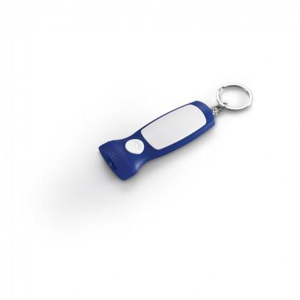 Chaveiro Personalizado . ABS. Com LED. Incluso 3 pilhas AG10. 31 x 77 x 14 mm