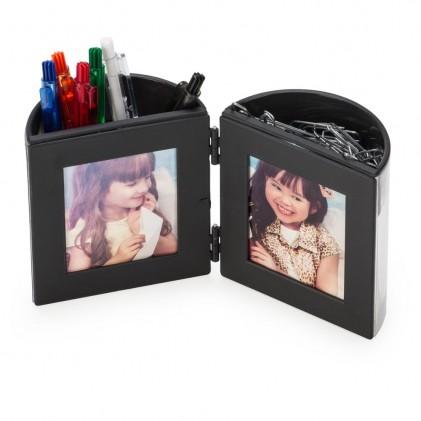 Porta Caneta com Porta Fotos Personalizado