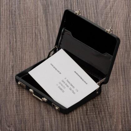 Porta Cartão Maleta Alumínio Personalizado
